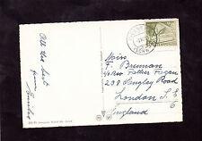View of Brunnen, Lake Lucerne, Switzerland, Stamp/Postmark 1955