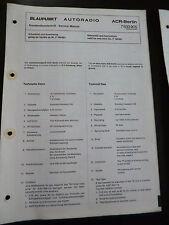 Original Service Manual   Blaupunkt Autoradio ACR Berlin