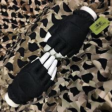 New Empire Battle Tested Bt Soft Back Fingerless Paintball Gloves - Black - S/M