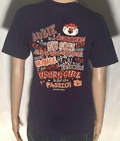 Auburn Tigers Girl NCAA SEC College Team War Eagle Womens Small S Blue T-shirt