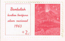 Indonesia Nature Pacific Ring Volcano Eruption stamp 1963 MLH