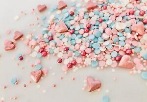 Sprinkle Mix 50grams. Pink & blues  Sweetheart Range.