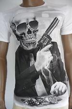 Herren T-Shirt BLACKROCK Skull Totenkopf Vintage Colt Kurzarm schwarz Gr. S