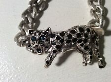 $45 Betsey Johnson   White Out Snow Leopard Bracelet 250A