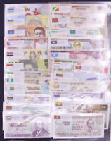 40 Pcs Different Banknotes World Foreign Paper Money UNC Collection Learn Gift