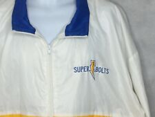 Vintage Chargers Windbreaker Jacket Sz XL Super Bolts USA Made 80s White Mens