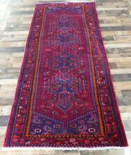 4'x10' Authentic Vintage Tribal Blue Joshegan Handmade wool Oriental rug runner