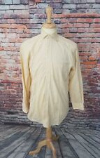 Paul Stuart Canada Men's Yellow Plaid Button Up Cotton Dress Shirt 15 33 EUC