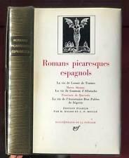 ROMANS PICARESQUES ESPAGNOLS. GALLIMARD. LA PLEIADE. 1974.