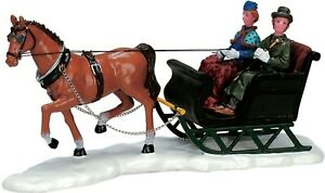 Lemax Decoration Christmas Scenic Sleigh Ride Horse Model Cake Decorating Figure