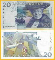 Sweden 20 Kronor p-61a 1991 UNC Banknote