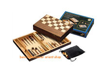 Philos 2508 - Schach/backgammon Walnuss Feld 32 Mm