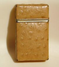 Vtg Ostrich Cigarette Case Holder Flip Top Pack of 20 Box Tramblay France French