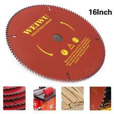 16 Inch Carbide Tipped Circular Saw Blade For Wood Cutting Woodworking 100 Teeth