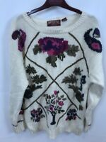 American Eagle Women's Flower Sweater M ramie/cotton blend