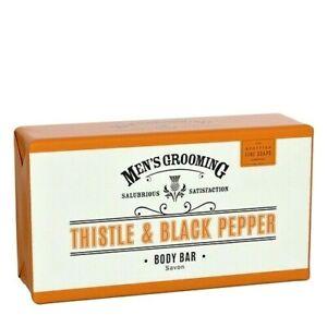 Scottish Fine Soaps Thistle & Black Pepper Body Bar Soap  220g wrapped in paper