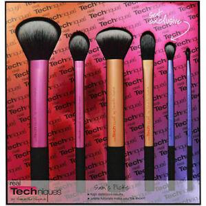 Real Techniques Sam's Picks 6pcs Makeup Brushes Powder Blush Foundation Set 1415