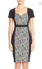 NWT NYDJ Gisselle Zebra Print Sheath Dress Size 16 MSRP $188