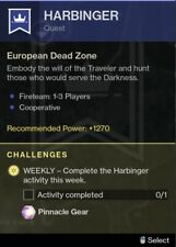 Destiny 2 Harbinger Mission (PC/Cross-Save)Hawkmoon Catalyst, Random Rolls