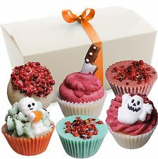 """BRUBAKER """"Happy Monsters"""" Bath Melts Gift Set, Vegan+Organic, Gift for Halloween"""