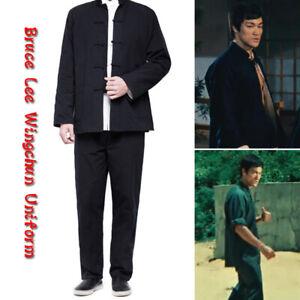2PCS Kung Fu Wingchun Uniform Martial Arts Suit Tai Chi Clothes Outfit Tang Suit