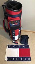 Rare! Vintage Tommy Hilfiger Belding Sports Golf Bag, Pin Flag & Golf Balls-New