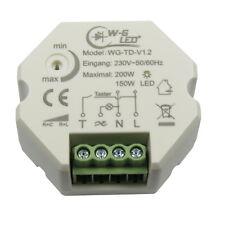 230V Universal-Tast-Dimmer|Unterputz|LED-Dimmer|Taster|150W LED|200W Halogen