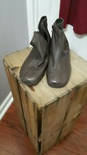 Aerosoles Brown Zip Up Ankle Boots Size 8.5 Box C