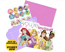 Disney Princesses You're Invited Invitations Pack of 8