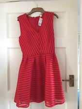 H&M Red v neck dress new with tags