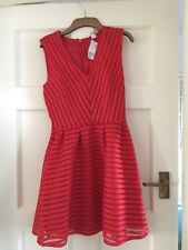 H & M red v neck dress - new with tags
