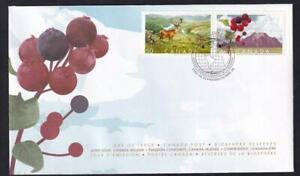 Canada FDC 2005 Biosphere Reserves-Waterton, Killarney, sc#2106a