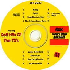 Karaoke CD+G Soft Hits Of The 70's SDK-9037 New Disc with background tracks