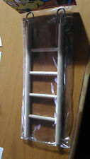 Escalera de madera periquitos agapornis ninfas loros hamster 20 cms juguete
