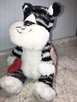 Hallmark LEONARDO Black White Tiger Animated Talking Stuffed Plush Animal NWT