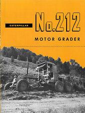 Caterpillar No 212 Motor Grader Sales Book