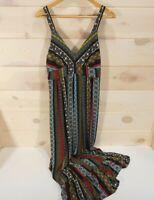 NWT T Tahari Women's Sz Small Boho Hippie Maxi Dress MSRP $138 Sleeveless