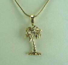 """18"""" Necklace With Palm Tree Pendant 18K Gold Plated - LIFETIME WARRANTY"""