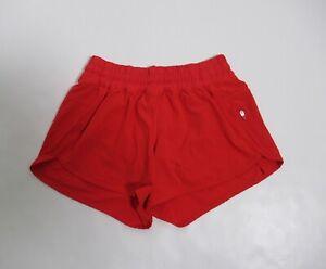 Lululemon Women's Tracker Short IV Color True Red Size 8 Breathable