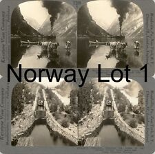 18 Stereoviews Norway Norwegen Kongeriket Norge um 1900 Lot 1
