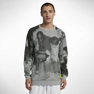 Nike Jordan Tinker Legacy Fleece Crew Sweatshirt Retro Heritage Gray 2XL