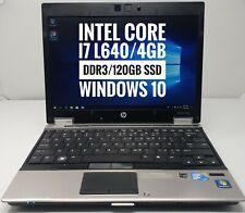 """HP EliteBook 2540P 12"""" Windows 10 Intel Core i7 L640 4GB DDR3 120GB SSD laptop"""