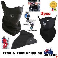 2x Face Mask Bike Motorcycle Ski Snow Snowboard Fishing Biker Neck Winter Warmer