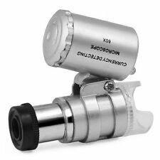 Magnifier 60x Mini Battery Powered Light Jewellery Zoom Microscope Detail Glass