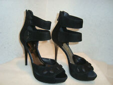 Guess By Marciano Womens NWOB Selam Black Heels Sandals Shoes 6 MED NEW