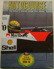 Autocourse Grand Prix Annual 1990-91 good condition dust wrapper ex ref library
