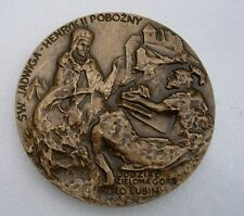 POLISH HENRY PIOUS BATTLE AGAINST MONGOLS SILESIA MEDIEVAL MEDAL Legnica