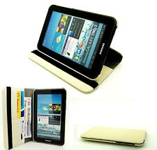 "Rotating Case Cover Stand Samsung Galaxy 7.0"" Tab 2 P3100 & P3110 - Cream"