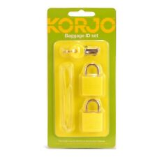 KORJO BAGGAGE ID SET 1 LUGGAGE TAG 2 LOCKS 2 KEYS