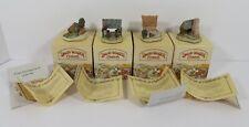 New ListingLot 4 David Winter Cameo Miniatures Potting Shed~Lych Gate~Barley Kiln~Wagon